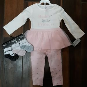 Baby Girl Carters outfit and socks